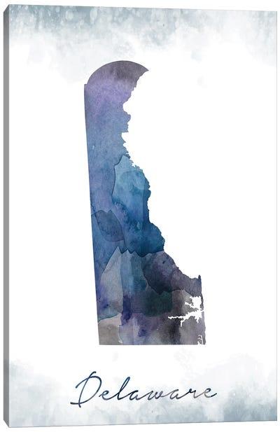 Delaware State Bluish Canvas Art Print