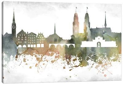Zurich Skyline Canvas Art Print