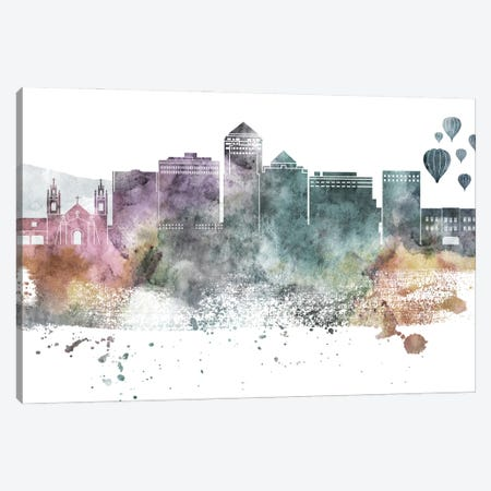 Albuquerque Pastel Skyline Canvas Print #WDA1015} by WallDecorAddict Canvas Art