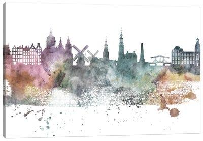 Amsterdam Pastel Skyline Canvas Art Print