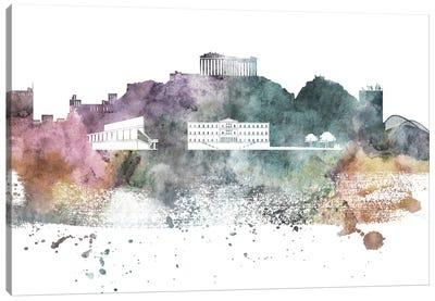 Athens Pastel Skyline Canvas Art Print