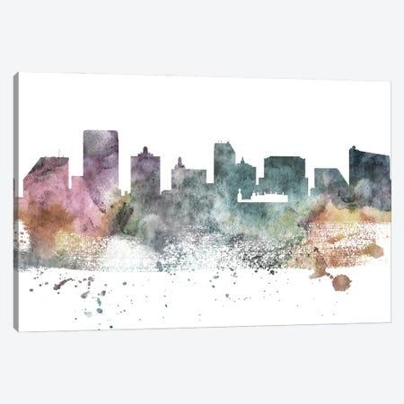 Atlantic City Pastel Skyline Canvas Print #WDA1019} by WallDecorAddict Art Print