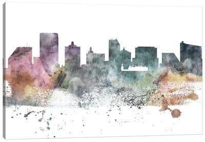 Atlantic City Pastel Skyline Canvas Art Print