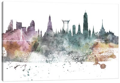 Bangkok Pastel Skyline Canvas Art Print