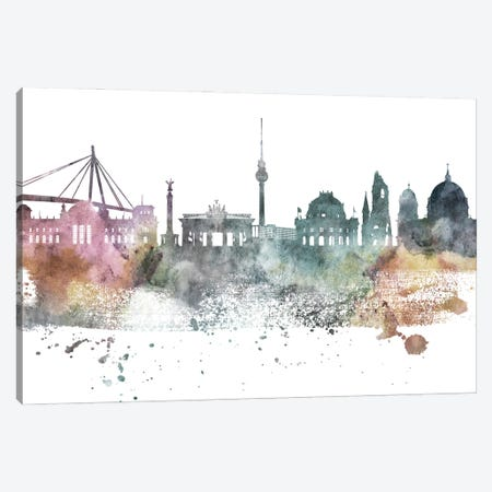 Berlin Pastel Skyline Canvas Print #WDA1025} by WallDecorAddict Canvas Art Print