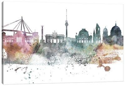 Berlin Pastel Skyline Canvas Art Print