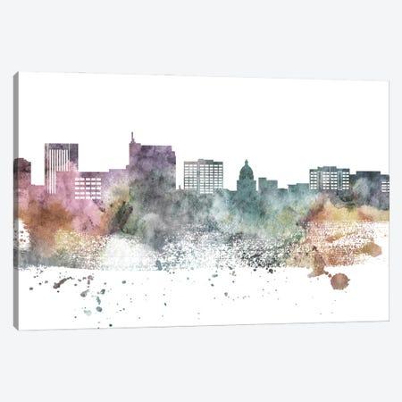 Boise Pastel Skyline Canvas Print #WDA1026} by WallDecorAddict Art Print