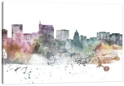Boise Pastel Skyline Canvas Art Print