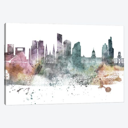 Buenos Aires Pastel Skyline Canvas Print #WDA1029} by WallDecorAddict Canvas Artwork