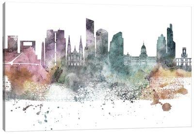 Buenos Aires Pastel Skyline Canvas Art Print