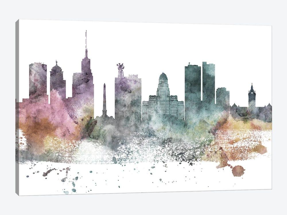 Buffalo Pastel Skyline by WallDecorAddict 1-piece Canvas Print
