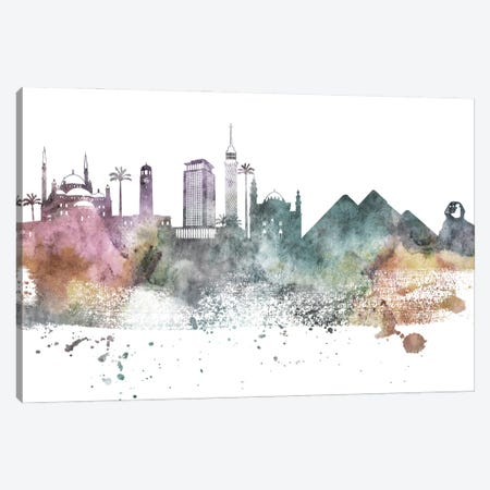 Cairo Pastel Skyline Canvas Print #WDA1031} by WallDecorAddict Art Print
