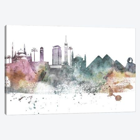 Cairo Pastel Skyline Canvas Print #WDA1031} by WallDecorAddict Art Print