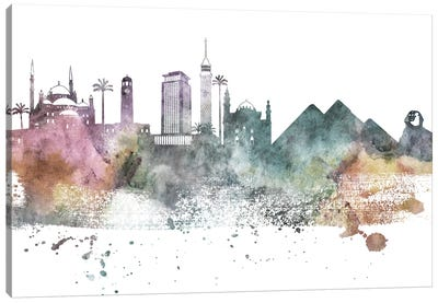 Cairo Pastel Skyline Canvas Art Print