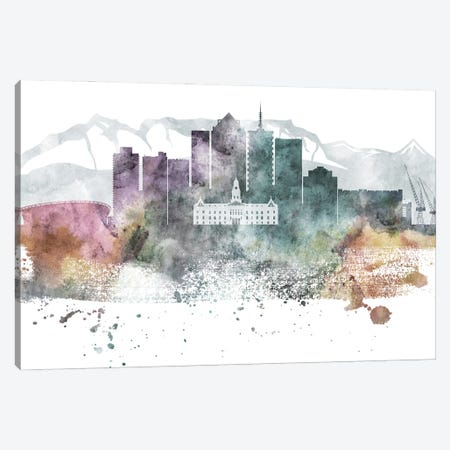 Cape Town Pastel Skyline Canvas Print #WDA1033} by WallDecorAddict Canvas Art Print