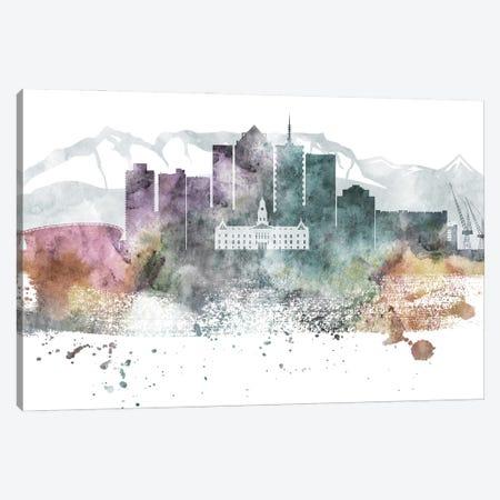 Cape Town Pastel Skyline Canvas Print #WDA1033} by WallDecorAddict Canvas Art Print