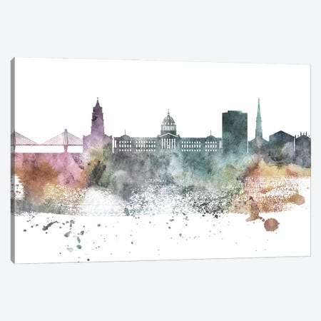 Charleston Pastel Skyline Canvas Print #WDA1034} by WallDecorAddict Canvas Wall Art