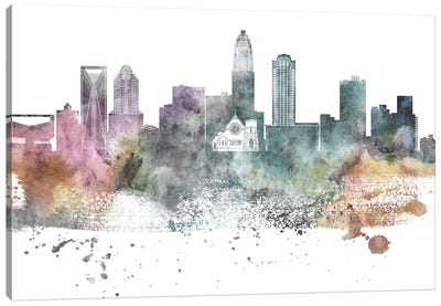 Charlotte Pastel Skyline Canvas Art Print