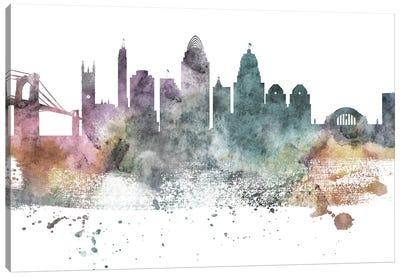 Cincinnati Pastel Skyline Canvas Art Print