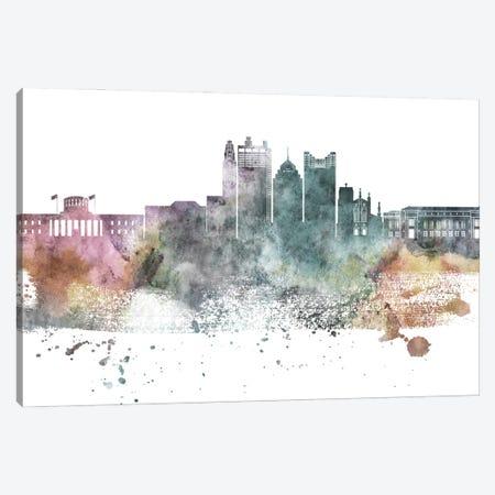 Columbus Pastel Skyline Canvas Print #WDA1039} by WallDecorAddict Art Print