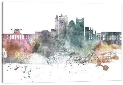 Columbus Pastel Skyline Canvas Art Print