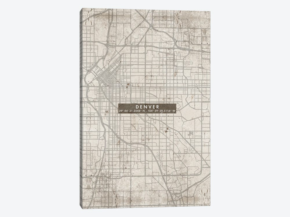 Denver City Map Abstract by WallDecorAddict 1-piece Art Print