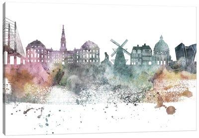 Copenhagen Pastel Skyline Canvas Art Print