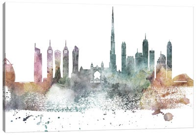 Dubai Pastel Skyline Canvas Art Print