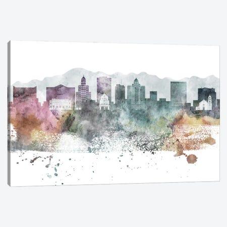 El Paso Pastel Skyline Canvas Print #WDA1048} by WallDecorAddict Canvas Wall Art