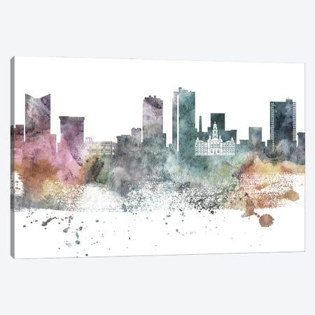 Fort Worth Pastel Skyline Canvas Print #WDA1049} by WallDecorAddict Canvas Wall Art