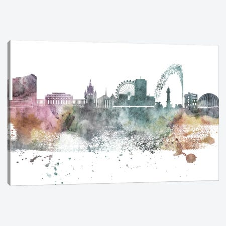 Geneva Pastel Skyline Canvas Print #WDA1050} by WallDecorAddict Canvas Print