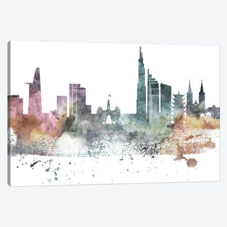 Ho Chi Minh Pastel Skyline Canvas Print #WDA1056} by WallDecorAddict Canvas Artwork