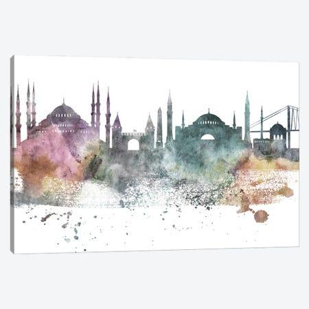 Istanbul Pastel Skyline Canvas Print #WDA1058} by WallDecorAddict Canvas Print