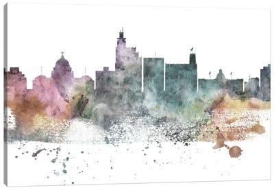Jackson Mi Pastel Skyline Canvas Art Print