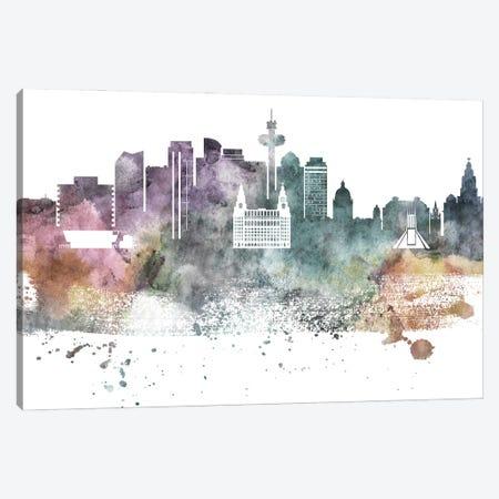 Liverpool Pastel Skyline Canvas Print #WDA1066} by WallDecorAddict Canvas Print