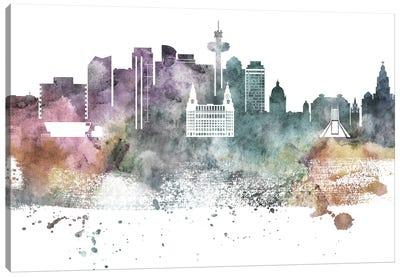 Liverpool Pastel Skyline Canvas Art Print