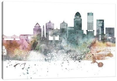 Louisville Pastel Skyline Canvas Art Print