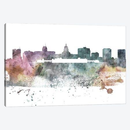 Madison Pastel Skyline Canvas Print #WDA1069} by WallDecorAddict Canvas Wall Art