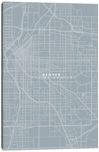 Denver City Map Simple Color Canvas Art Print