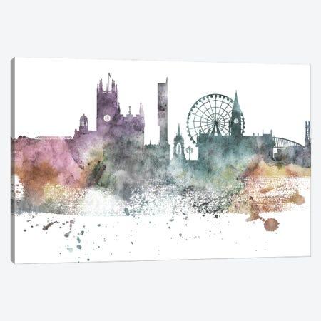 Manchester Pastel Skyline Canvas Print #WDA1071} by WallDecorAddict Art Print