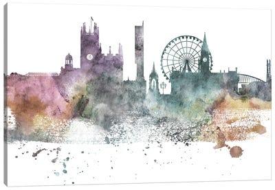 Manchester Pastel Skyline Canvas Art Print