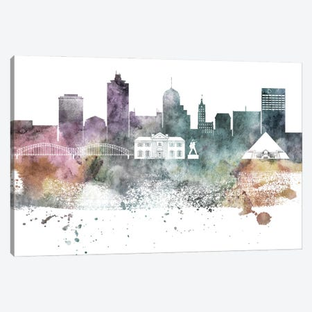 Memphis Pastel Skyline Canvas Print #WDA1073} by WallDecorAddict Art Print