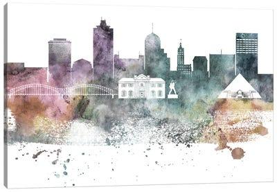 Memphis Pastel Skyline Canvas Art Print