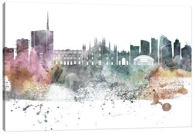Milan Pastel Skyline Canvas Art Print