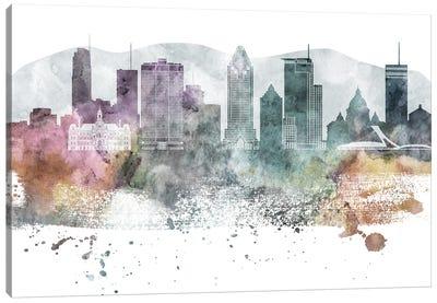 Montreal Pastel Skyline Canvas Art Print