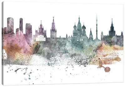 Moscow Pastel Skyline Canvas Art Print