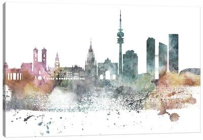 Munich Pastel Skyline Canvas Art Print