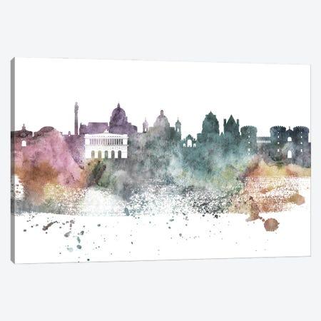 Naples Pastel Skyline Canvas Print #WDA1079} by WallDecorAddict Canvas Print