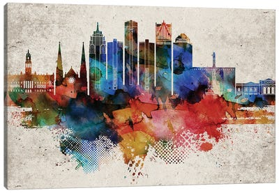 Detroit Abstract Canvas Art Print