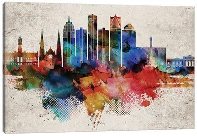 Detroit Abstract Canvas Art Print